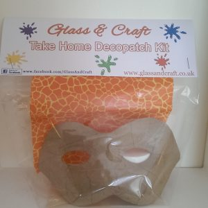 Decopatch Kit from Glass & Craft - face mask