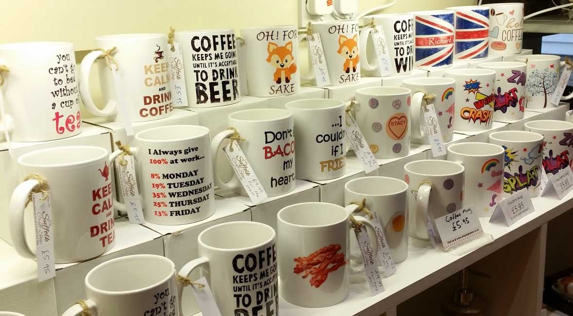 Personalised The And Shop Craft Printed Mugs Suffolk 6g7bfy