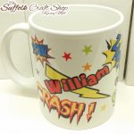 personalised comic mug suffolk
