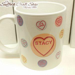 love heart personalised mug suffolk