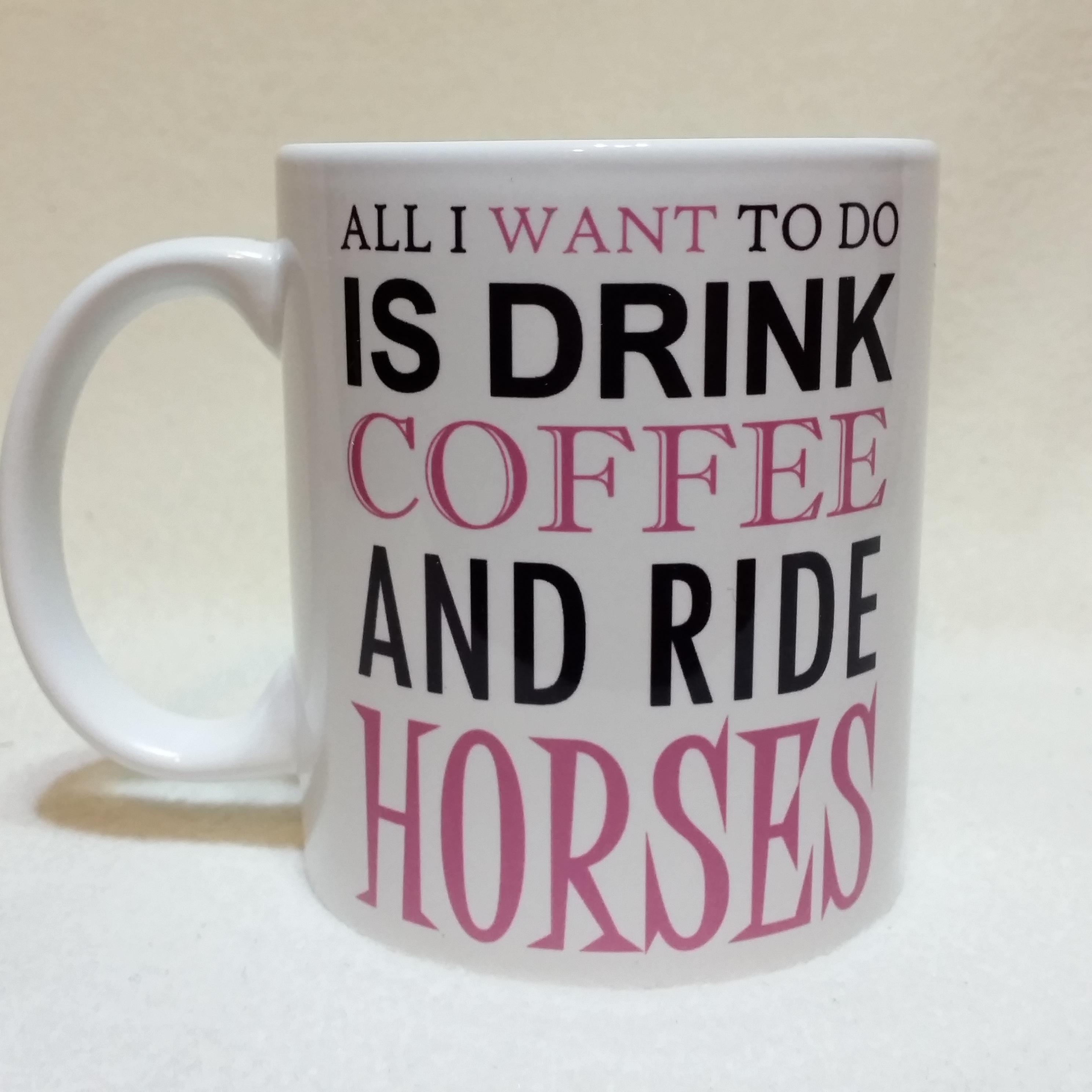 Personalized mugs cheap uk - Funny Horse Coffee Mug